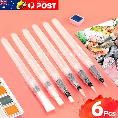 6pcs Water Color Brush Pen for Drawing Refillable Pilot Paint Brush Art Painting