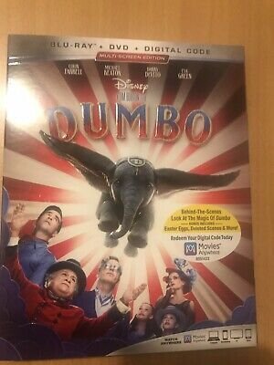 Disney Dumbo(Blu-Ray+Dvd+Digital)W/Slipcover Same Day Free Shipping Brand New!!