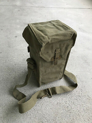 Original Belgian Belgium army gas mask M51 bag Carrying bag