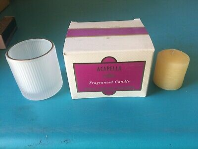 Vintage/Retired Mary Kay Acapella Fragranced Candle #1847 With Extra Refill