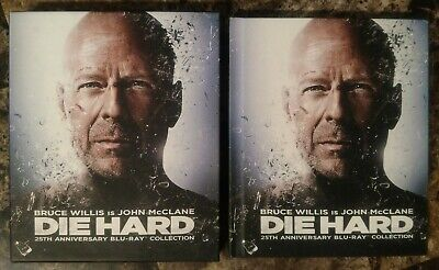 Die Hard 25th Anniversary Collection (Blu-ray, 2013, 5-Disc Box Set w Slipcover)