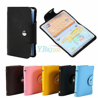 24 Cards PU Leather Business ID Credit Card Holder Pocket Wallet Purse Portable