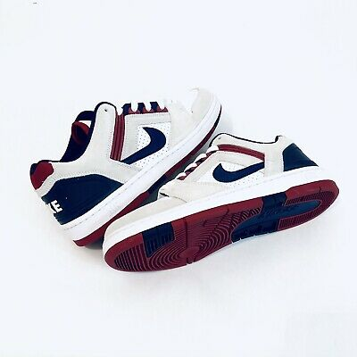 39b4238382135 NIKE SB AIR FORCE II 2 LOW WHITE-BLUE VOID-RED CRUSH Men's Size 9  [AO0300-100]