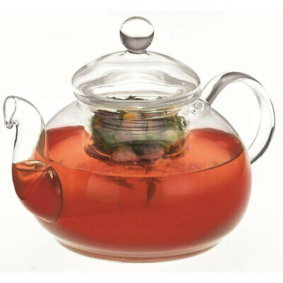 Avanti 800ml Eden Glass Teapot w/ Removable Glass Infuser/Lid Tea Pot Clear