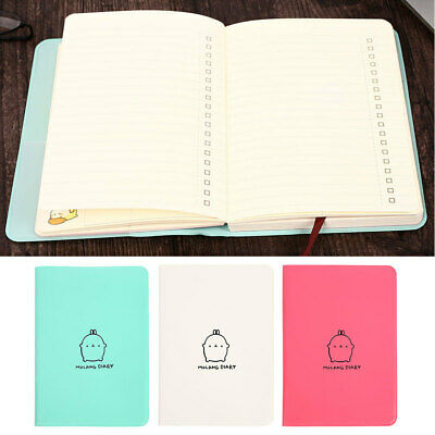 E20E Planner Journal 2018-2019 Molang Rabbit Planner Pocket Diary Faux Leather