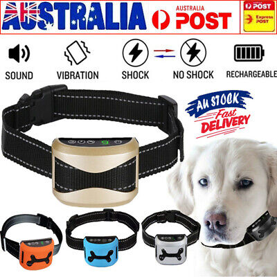 2019 Rechargeable Auto Anti Bark Stop NO Barking Dog Training Control Trainer AU