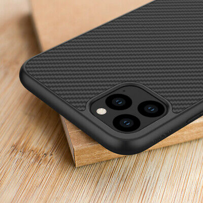 For iPhone 11 Pro Max XS XR X 8 Synthetic Carbon Fiber Magnetic Back Case Cover