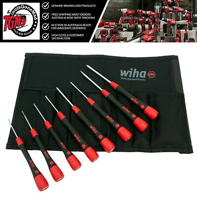 Wiha 8pc PicoFinish Precision Slotted and Phillips Screwdriver Set & Pouch 26193