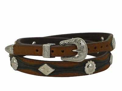 Twister Hutband Kunstleder Vegan Brown Black