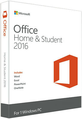 Microsoft Ms Office Home Student 2016 English Retail Box Product Key 79G-04314