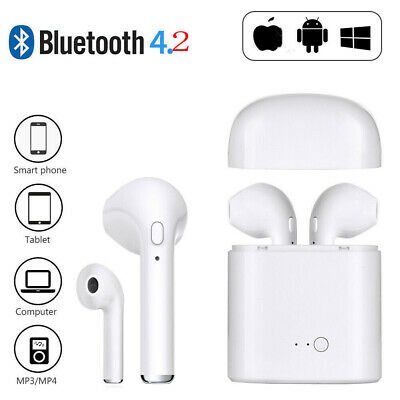 i7s TWS Twin Wireless Bluetooth Earphones Earbuds For iPhone Samsung TR