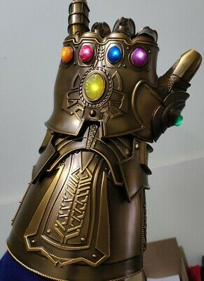 HCMY Thanos Infinity Gauntlet Full Metal 1:1 Wearable Cosplay Statue LED 10