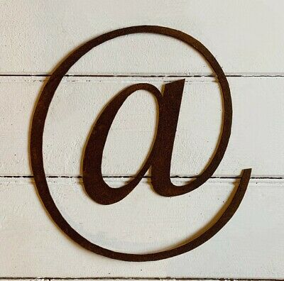 1 x @ Rusty Metal 'at sign' Iron Letters Hanging Wall Garden Wedding Decoration