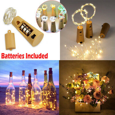 6PCS 2M 20LED Copper Wire Wine Bottle Cork Fairy String Lights Waterproof Events