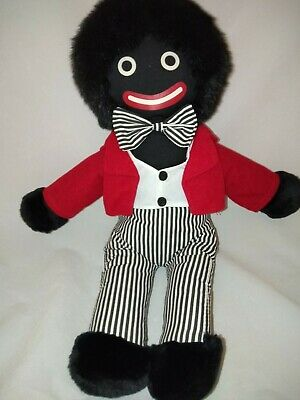 """42cm/17"""" Black Cloth Doll by 'Cute n Soft' Collection. Like New Condition"""