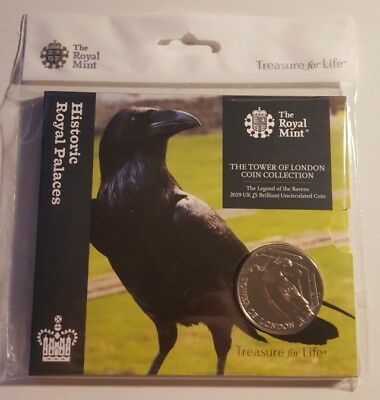 2019 Tower Of London Royal Mint £5 Five Pound Coin Legend Of The Ravens Bu