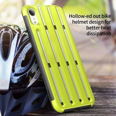 BASEUS Cycling Helmet Soft TPU Phone Back Case Cover for iPhone XR 6.1 inch