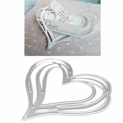 Heart DIY Cutting Dies Stencil Scrapbooking Album Stamp Paper Card Embossing