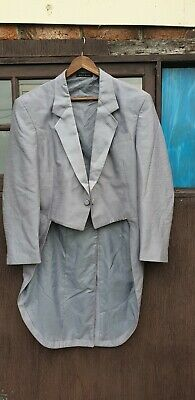 Mens Grey Retro Vintage  Tuxedo Tails Suit Jacket by National Formal Group