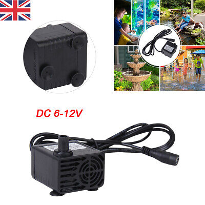 Water Pump Brushless Small Submersible Motor Pump for Garden Pond Pool DC 6-12V