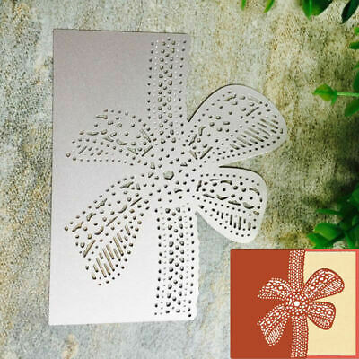 Bow Lace Cutting Dies Metal Stencil Scrapbooking Album Paper Card DIY Craft