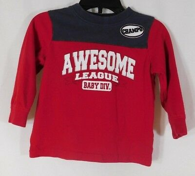 """Boy's Okie Dokie Match-Ups Size 18 Months """"CHAMPS AWESOME LEAGUE"""" Long Sleeve"""