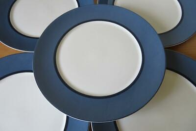 "6 x MARKS and SPENCER (M&S) MANHATTAN Blue 11¼"" DINNER PLATES Used Condition"