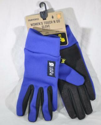Burton Womens Touch N Go Gloves L Large Sorcerer Blue FAST SHIP! A37