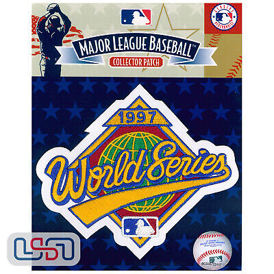 1997 World Series Florida Marlins Official Game MLB Sleeve Jersey Logo Patch