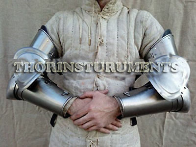 Medieval Armor Complete Knight Arms Armor Set LARP Silver BY GREEKROMANMART