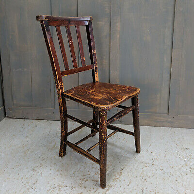 'Shabby Chic' Extra-Distressed Finish Church Chapel Chairs