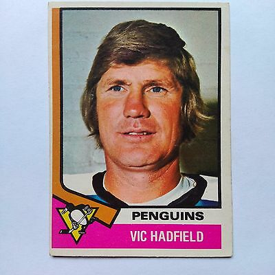 1974-75 OPC O-Pee-Chee #65 Vic Hadfield Pittsburgh Penguins - EX