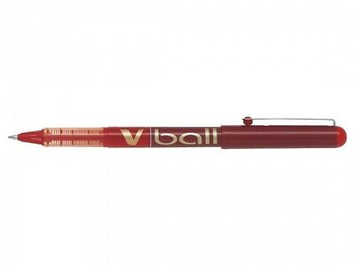 Stylo roller V Ball VB7, pointe métal, rouge
