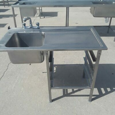 Commercial Stainless Dishwasher Sink Single Bowl Drainer