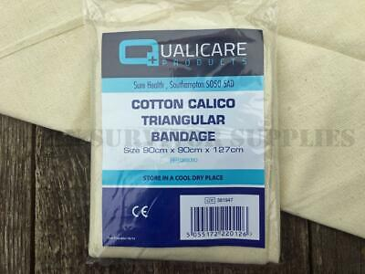 COTTON CALICO TRIANGULAR BANDAGE - Sling Support First Aid Trauma Kit Dressing
