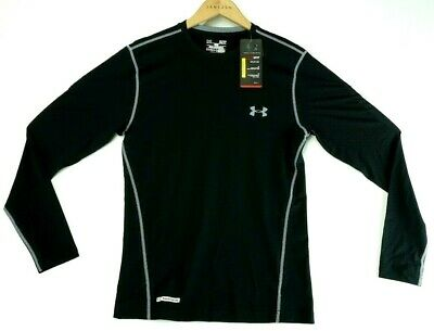 Under Armour UA Mens HeatGear Fitted Crew Long Sleeve Shirt FREE SHIP 1236250