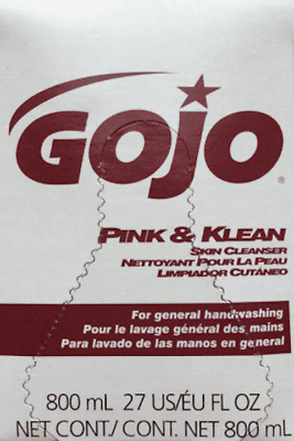 NEW 2 Pack GoJo Pink and Klean Skin Cleanser Refill 800ml Each