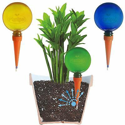 6 Plantpal Watering Globes Green, Blue and Orange Self Watering Automatic System