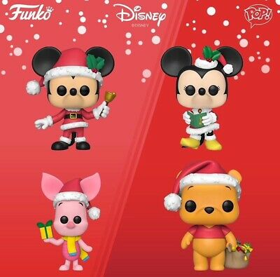 Funko Pop! Disney Holiday Mickey Minnie Winnie the Pooh Piglet Set 4 Pre-Order