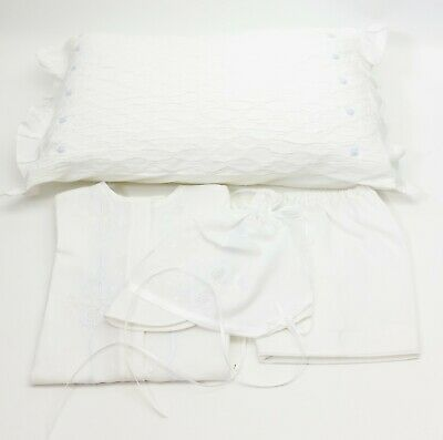 Rendezvous Linens And Lace Christening Gown Bonnet Bloomers And Pillow