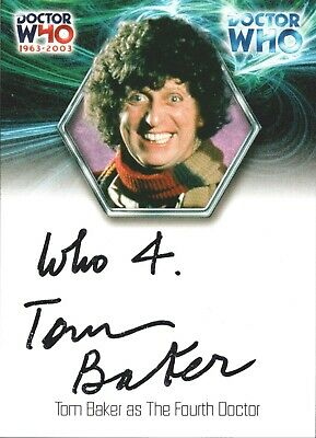 DOCTOR DR. WHO 40th ANNIVERSARY AUTOGRAPH INSERT PROMO SINGLE CARDS CHOOSE