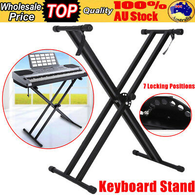 Keyboard Stand Double Braced X Type Folding Music Piano Holder Height Adjustable