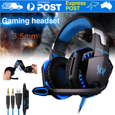 Gaming Headset Headphone With Microphone Surround for Mac Laptop Sony PS4 Xbox