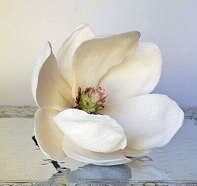 Magnolia WHITE Large - Edible Sugar Flowers - Gumpaste - ChappCakes Decor