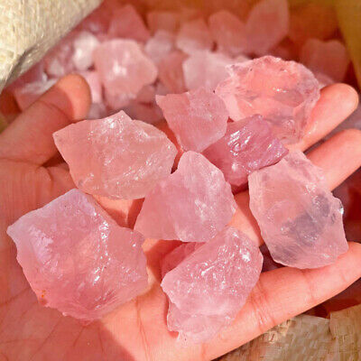Natural Raw Pink Rose Quartz Crystal Rough Stone Specimen Natural Stone Mineral