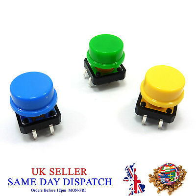 OMRON B3F-4055 Tactile Switch Momentary 12x12x7.3mm KeyTop Key Cap Microswitch