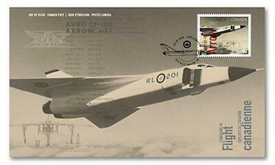 2019 Canada 📭 AVRO CF-105 ARROW - First Day Cover; FDC 📬 Canadians In Flight✈