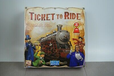 Ticket To Ride Board Game Cross-Country Train Adventure. Complete