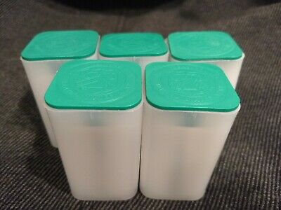 5 Genuine Official US Mint Square Coin Tubes For American Silver Eagle 1 Troy Oz