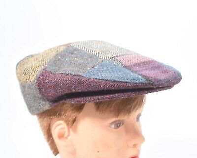 147b3cef259e2 Hanna Hats Of Donegal LTD Patchwork Cap Made In Ireland Pure Wool Small- Med